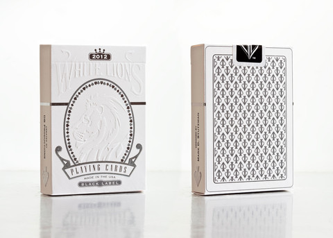 White Lions Series B 2012 Playing Card Deck(Blk) - David Blaine